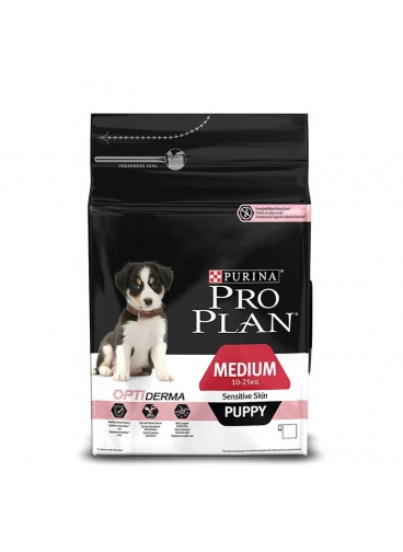 PRO PLAN MEDİUM PUPPY SENSİTİVE SOMONLU YAVRU KÖPEK MAMASI 3 KG